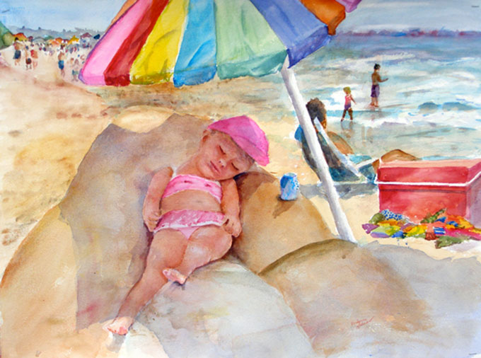 Berlynne-Holman-Artist-Naptime-20X26-Hand-Paintings-608X452