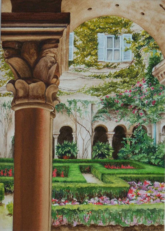Karen-Foote-Artist-Garden-St-Remy-10X14-Hand-Paintings-608X851