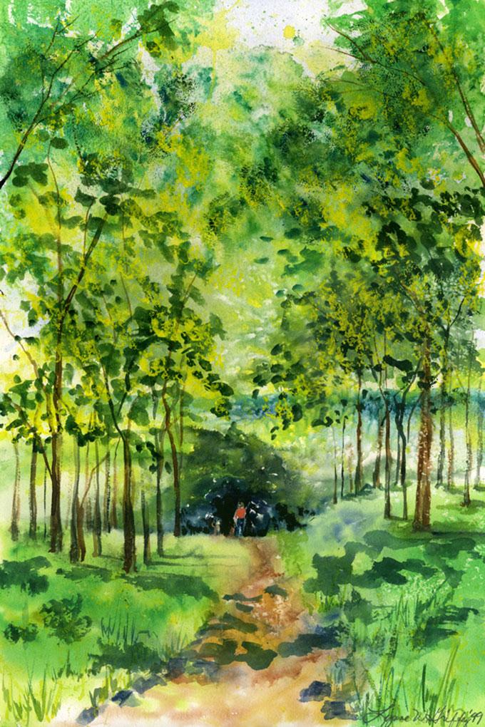 Lynne-Griffey-Artist-A-Walk-In-The-Park-Handpainting608E