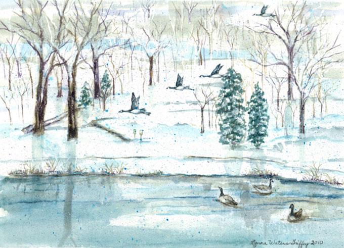 Lynne-Griffey-Artist-Snowy-Geese-Handpainting608
