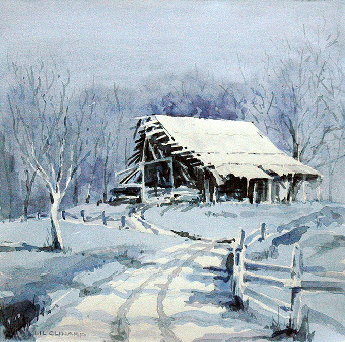 Lil Clinard.Old Barn in Winter